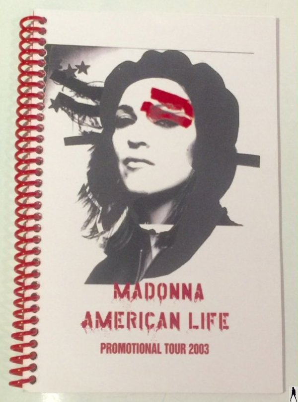 AMERICAN LIFE ROAD BOOK ITINENARY TOUR  USA  / MADONNA - CD - DISQUES - RECORDS -  BOUTIQUE VINYLES