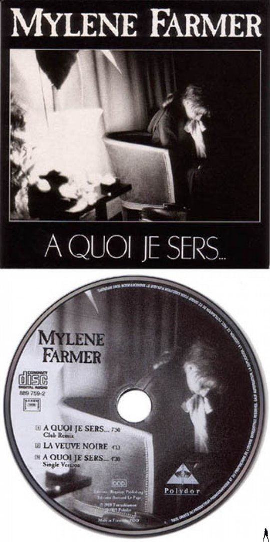 A QUOI JE SERS  CD  MAXI 1ER  PRESS / MYLENE FARMER - RECORDS - DISQUES - VINYLES - CD - SHOP -