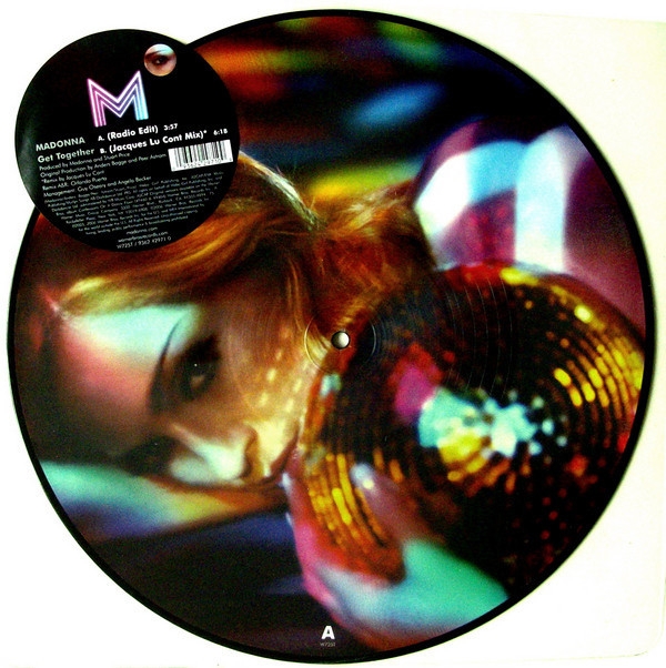 GET TOGETHER PICTURE DISC  UK  / MADONNA - CD - DISQUES - RECORDS -  BOUTIQUE VINYLES