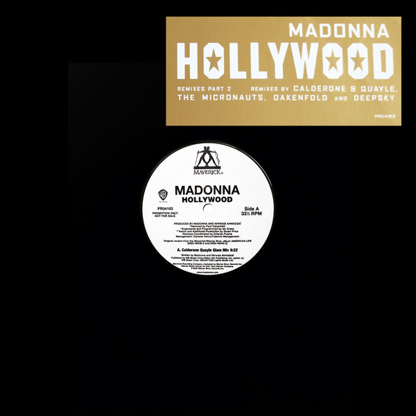 HOLLYWOOD  MAXI 45T SAMPLER GERMANY  / MADONNA - CD - DISQUES - RECORDS -  BOUTIQUE VINYLES