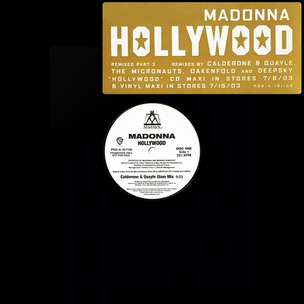 HOLLYWOOD  MAXI 45T SAMPLER USA  PART 2  / MADONNA - CD - DISQUES - RECORDS -  BOUTIQUE VINYLES