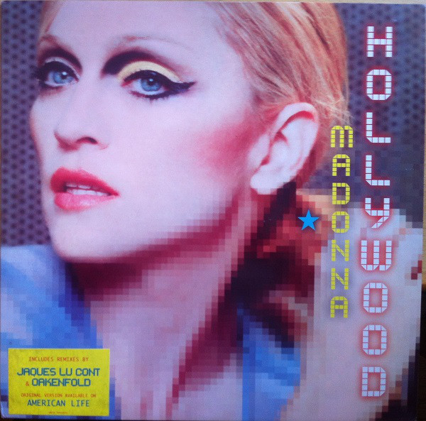 HOLLYWOOD  MAXI 45T UK / MADONNA - CD - DISQUES - RECORDS -  BOUTIQUE VINYLES