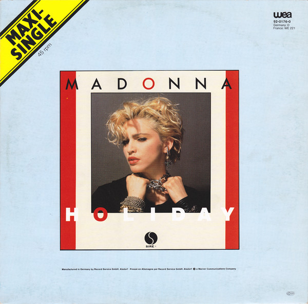 HOLIDAY  MAXI 45T  EUROPE / MADONNA - CD - DISQUES - RECORDS -  BOUTIQUE VINYLES