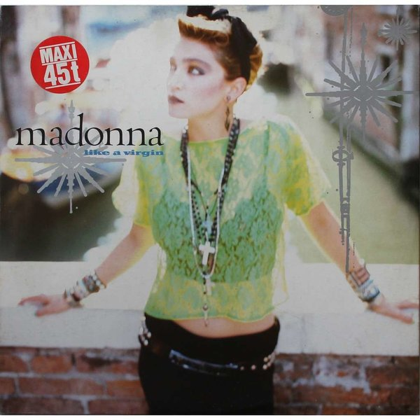 LIKE A VIRGIN MAXI 45T FRANCE   / MADONNA - CD - DISQUES - RECORDS -  BOUTIQUE VINYLES