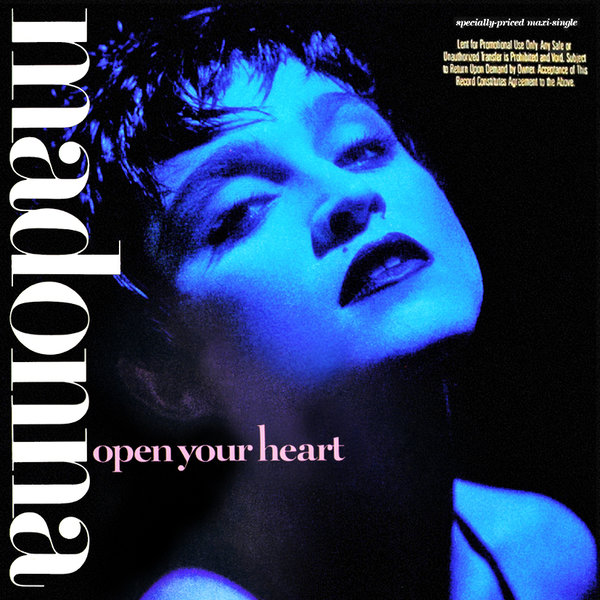 OPEN YOUR HEART MAXI 45T  USA SAMPLER  / MADONNA - CD - DISQUES - RECORDS -   VINYLES