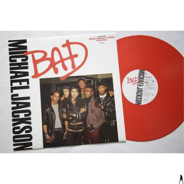 BAD MAXI 45T UK  RED VINYL / MICHAEL JACKSON  - CD - DISQUES - RECORDS -  BOUTIQUE VINYLES