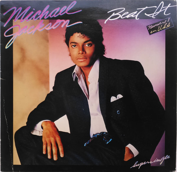 BEAT IT  MAXI 45T ESPAGNE / MICHAEL JACKSON  - CD - DISQUES - RECORDS -  BOUTIQUE VINYLES