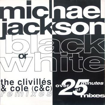 BLACK OR WHITE MAXI 45T ESPAGNE   / MICHAEL JACKSON- CD - DISQUES - RECORDS -  BOUTIQUE VINYLES