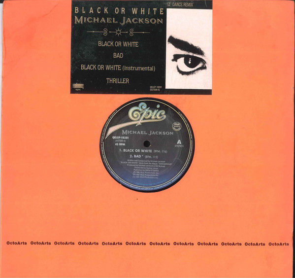 BLACK OR WHITE 12 INCHES MAXI PHILIPPINES/ MICHAEL JACKSON  - CD - RECORDS -  BOUTIQUE VINYLES