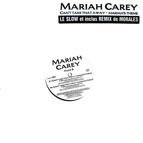 CAN'T TAKE THAT AWAY 12 INCHES SAMPLER FRANCE  / MARIAH CAREY  - CD - RECORDS -  BOUTIQUE VINYLES