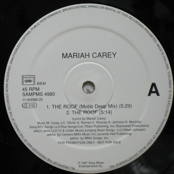 THE ROOF 12 MAXI SAMPLER NETHERLAND / MARIAH CAREY  - CD - RECORDS -  BOUTIQUE VINYLES