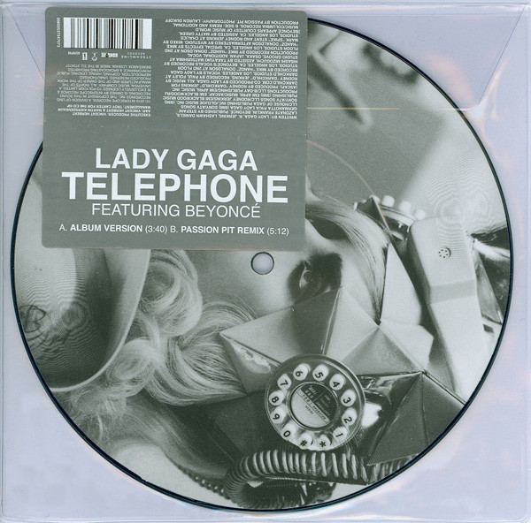 TELEPHONE PICTURE DISC 7 INCHES BEYONCE/ LADY GAGA-CD-RECORDS-VINYLS-SHOP-COLLECTORS
