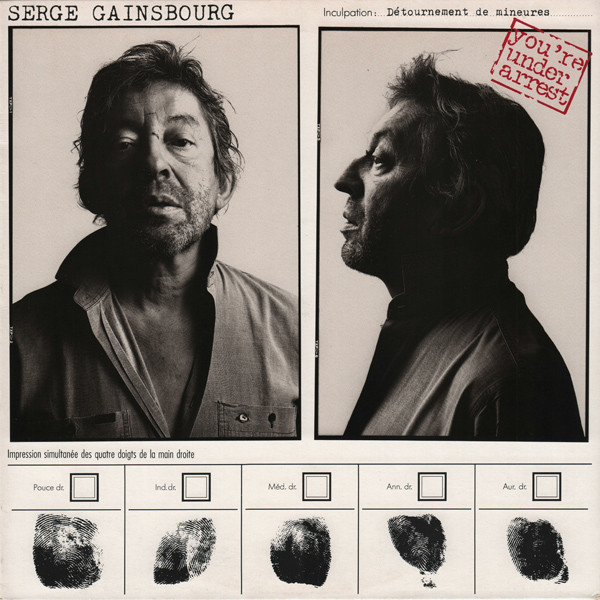 YOU'RE ARE UNDER ARREST 33T FRANCE  / GAINSBOURG-CD-DISQUES-RECORDS-BOUTIQUE VINYLES-RECORDS