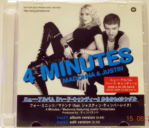 4 MINUTES CD SAMPLER JAPON 1/ MADONNA - CD - DISQUES - RECORDS -  BOUTIQUE VINYLES