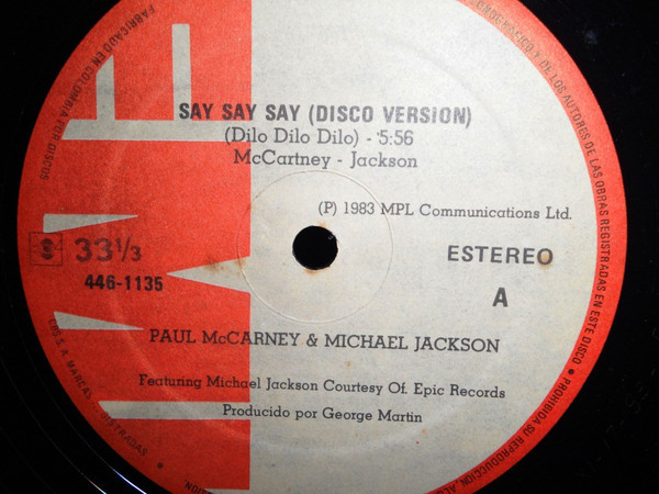 SAY SAY SAY  MAXI 45T  COLOMBIE  / MICHAEL JACKSON-CD-DISQUES-RECORDS-VINYLES-STORE-BOUTIQUE