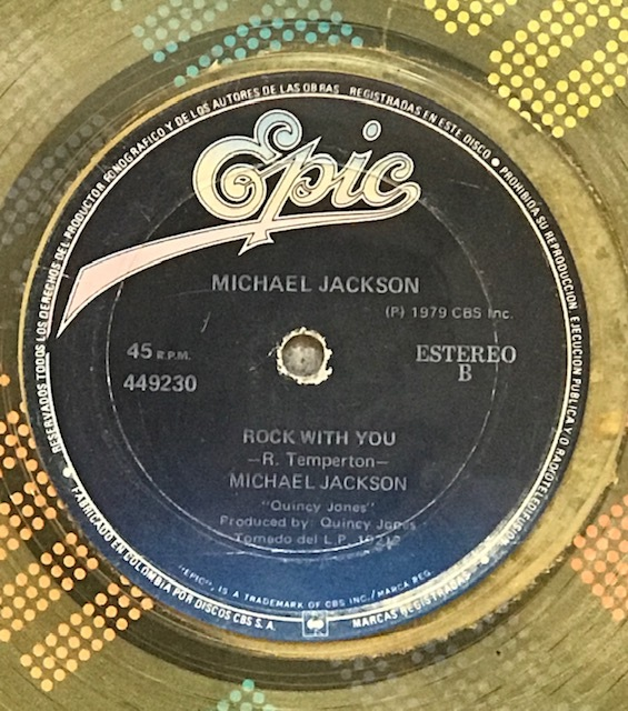 ROCK WITH YOU MAXI COLOMBIE JAUNE  / MICHAEL JACKSON- CD - DISQUES - RECORDS -  VINYLES