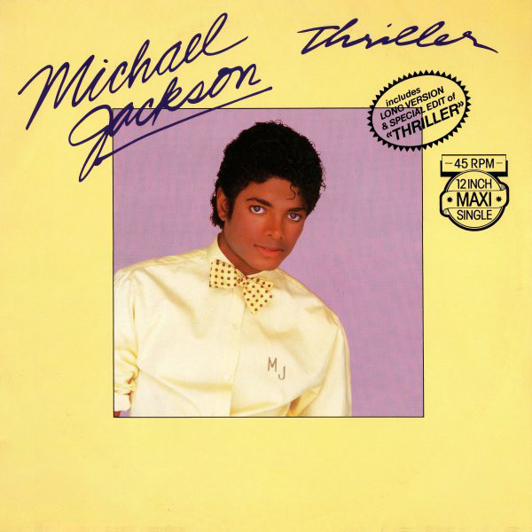 THRILLER MAXI 45T   EUROPE / MICHAEL JACKSON-CD-DISQUES-RECORDS-VINYLES-BOUTIQUE-