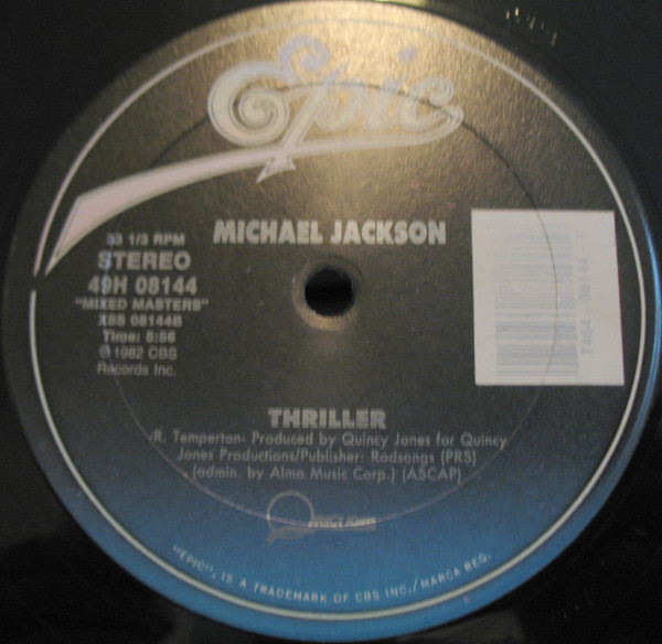 THRILLER 12 INCHES  USA / MICHAEL JACKSON-CD-RECORDS-BOUTIQUE VINYLES