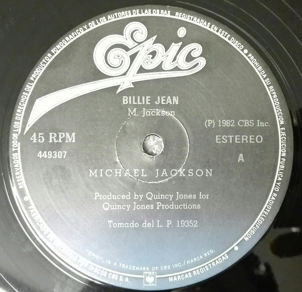 THRILLER / BILLIE JEAN 12 INCHES  COLOMBIA / MICHAEL JACKSON-CD-RECORDS-BOUTIQUE-VINYLS-COLLECTORS