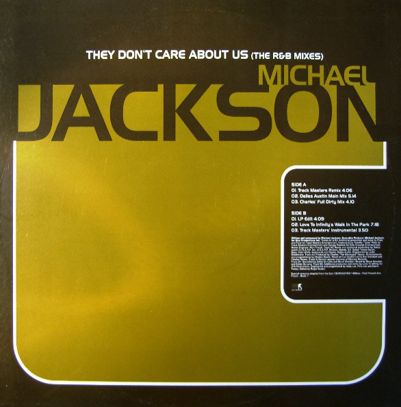 THEY DON'T CARE ABOUT US MAXI 12 SAMPLER UK  MICHAEL JACKSON-CD-RECORDS-BOUTIQUE-VINYLS-COLLECTORS