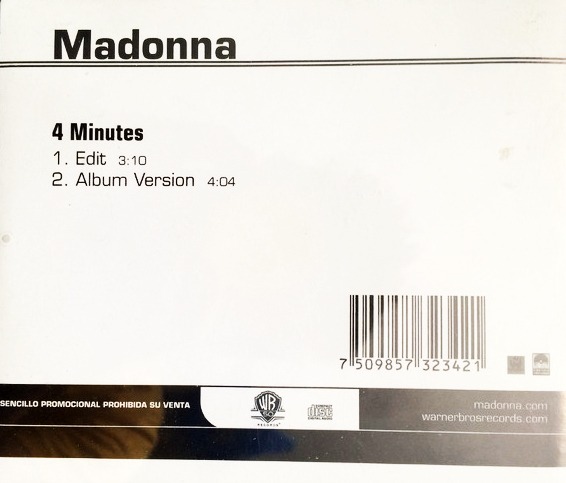 4  MINUTES CD SAMPLER MEXIQUE  / MADONNA-CD-DISQUES- RECORDS-VINYLES-COLLECTORS-BOUTIQUE
