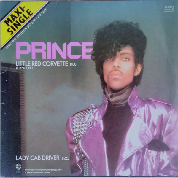 LITTLE RED CORVETTE  MAXI 45T EUROPE 2ND PRESS/ PRINCE-CD-DISQUES-RECORDS-BOUTIQUE VINYLES-RECORDS