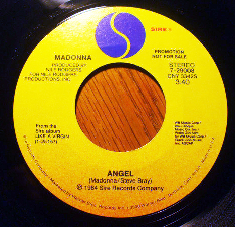 ANGEL  45T SAMPLER USA / MADONNA-CD-DISQUES-RECORDS-BOUTIQUE VINYLES-SHOP-COLLECTOR