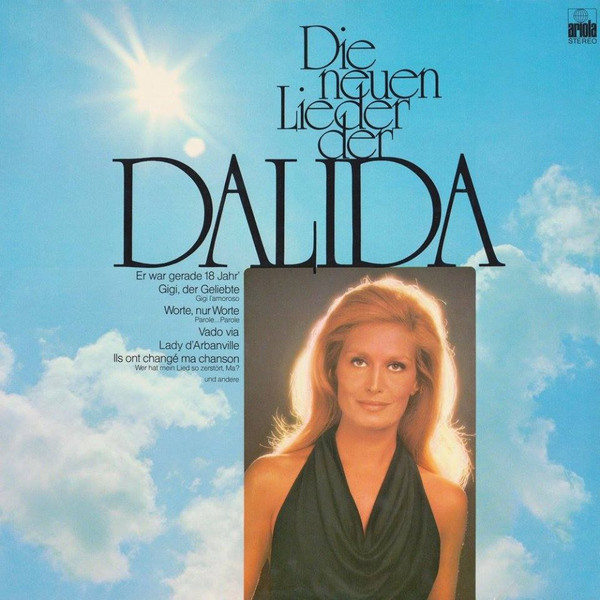 DIE NEUEN LIEDER DER DALIDA 33T ALLEMAGNE /  DALIDA-CD-DISQUES-RECORDS-BOUTIQUE VINYLES-RECORDS