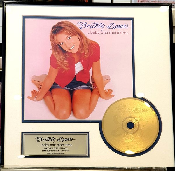 BABY ONE MORE TIME GOLD AWARD  / BRITNEY SPEARS-CD-DISQUES--LPS- VINYLS-SHOP-COLLECTORS-STORE-AWARDS