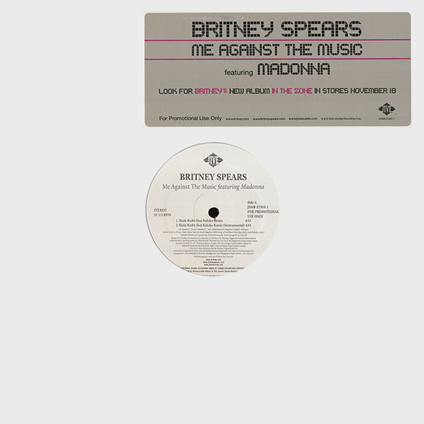 ME AGAINST THE MUSIC MAXI 45 T SAMPLER  USA / BRITNEY SPEARS-CD-DISQUES- VINYLES-SHOP-COLLECTORS