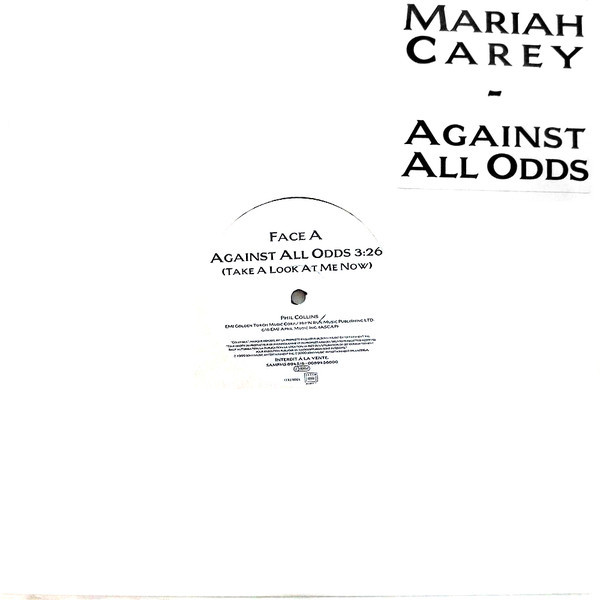 AGAINST ALL ODDS 12 MAXI SAMPLER FRANCE MARIAH CAREY-RECORDS-STORE-LPS-VINYLS-SHOP-COLLECTORS-AWARDS
