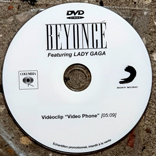 VIDEO PHONE  DVD SAMPLER FRANCE  /BEYONCE- LADY GAGA-CD-DISQUES-RECORDS-BOUTIQUE VINYLES-RECORDS