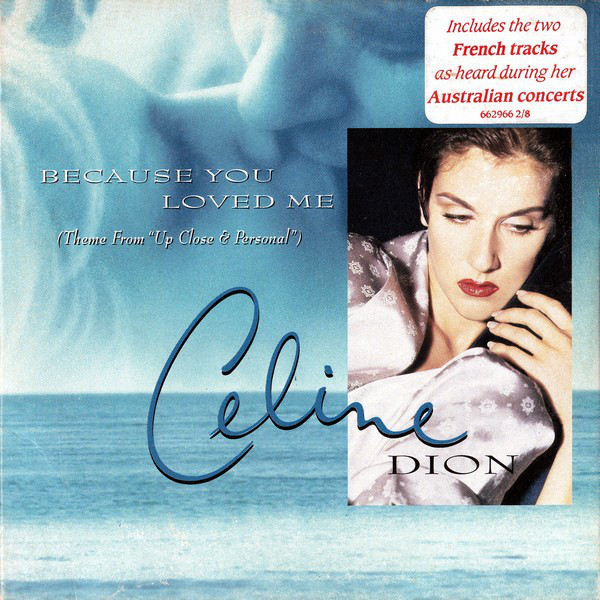 BEAUSE YOU LOVED ME CD SINGLE AUSTRALIA / CELINE DION-CD--LPS- VINYLS-SHOP-COLLECTORS-STORE-AWARDS