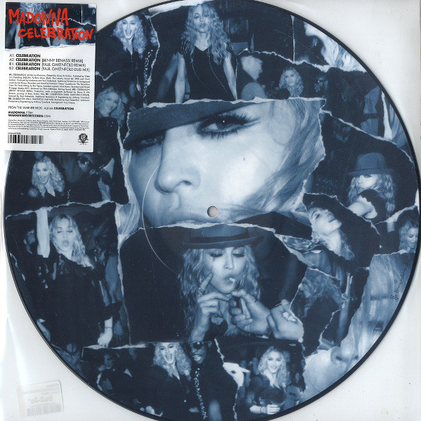 CELEBRATION PICTURE DISC UK    MADONNA-CD-DISQUES-RECORDS-BOUTIQUE VINYLES-SHOP-COLLECTORS-ST
