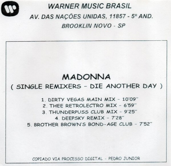 DIE CD MAXI  SAMPLER BRESIL /  MADONNA-CD-DISQUES-RECORDS-BOUTIQUE VINYLES-SHOP-COLLECTORS-STORE