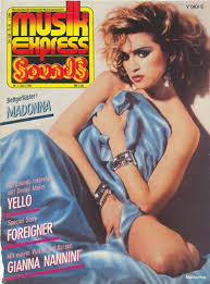 MUSIK EXPRESS MAGAZINE 1985 ALLEMAGNE / MADONNA-CD-DISQUES-BOUTIQUE VINYLES-SHOP-COLLECTORS-STORE