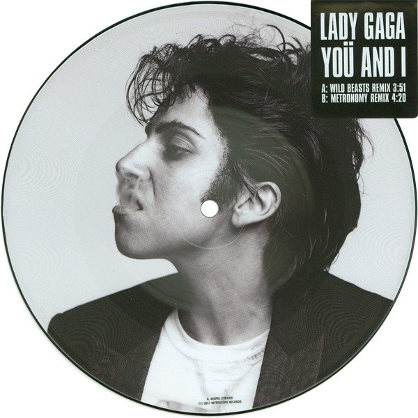 YOU AND I  PICTURE EUROPE  / LADY GAGA-CD-DISQUES-RECORDS-BOUTIQUE VINYLES-MUSICSHOP-STORE-SHOP