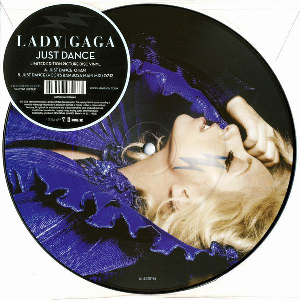 JUST DANCE  PICTURE DISC  EUROPE /  LADY GAGA-CD-DISQUES-BOUTIQUE VINYLES-RECORDS
