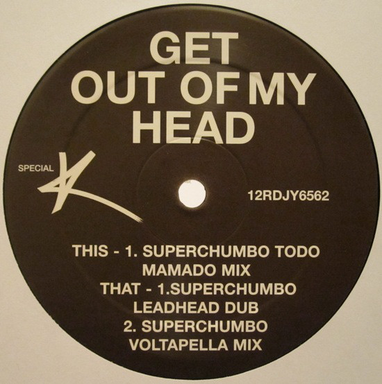GET OUT MY HEAD  MAXI 45T SAMPLER UK /  KYLIE MINOGUE-CD-DISQUES-RECORDS-BOUTIQUE VINYLES-RECORDS