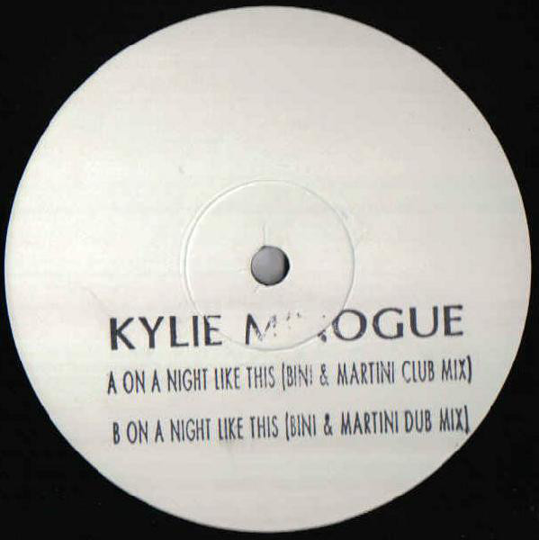 ON A NIGHT MAXI 45T SAMPLER UK /  KYLIE MINOGUE-CD-DISQUES-RECORDS-BOUTIQUE VINYLES-RECORDS