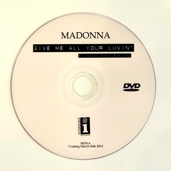 GIVE ME ALL DVD SAMPLER USA/  MADONNA-CD-DISQUES-RECORDS-BOUTIQUE VINYLES-SHOP-COLLECTORS