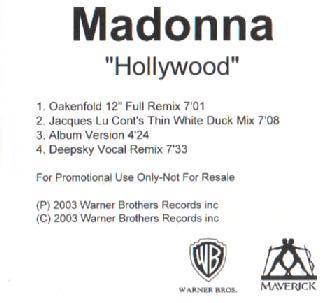 HOLLYWOOD CD SAMPLER UK/   MADONNA-CD-DISQUES-RECORDS-BOUTIQUE VINYLES-SHOP-COLLECTORS