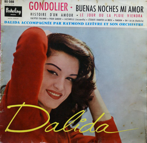 GONDOLIER 25 CM  FRANCE  /  DALIDA-CD-DISQUES-RECORDS-BOUTIQUE VINYLES-RECORDS