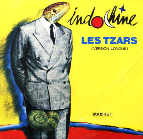 LES TZARS MAXI 45T ESPAGNE   INDOCHINE-CD-DISQUES-RECORDS-BOUTIQUE VINYLES-RECORDS
