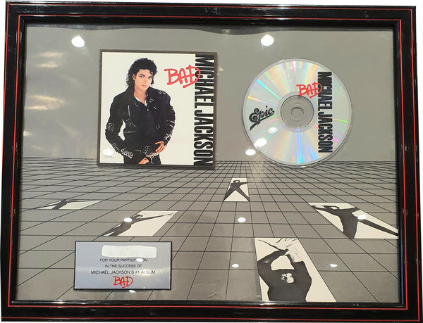 BAD AWARD USA  / MICHAEL JACKSON-CD-RECORDS-VINYLS SHOP-COLLECTORS