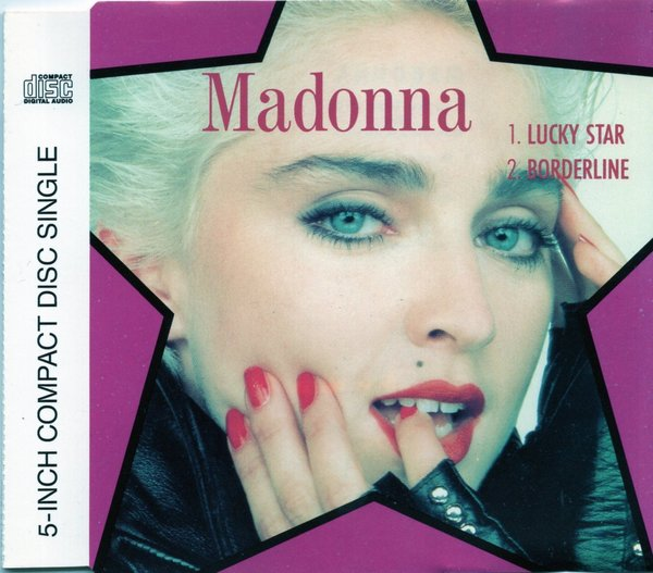 LUCKY STAR  CD SINGLE ALLEMAGNE/ MADONNA -CD-DISQUES- RECORDS-BOUTIQUE VINYLES-SHOP-