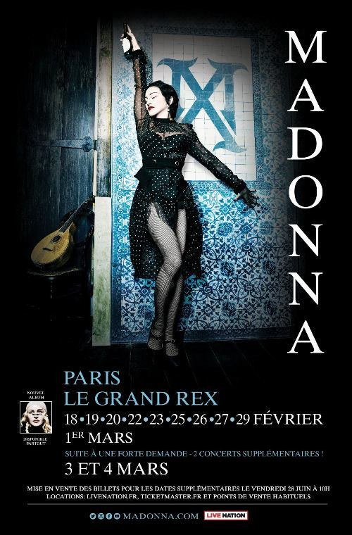 MADAME X  TOUR AFFICHE PARIS /   MADONNA-CD-DISQUES-RECORDS-BOUTIQUE VINYLES-SHOP-COLLECTORS