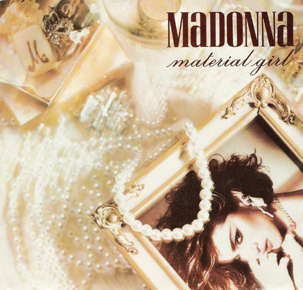 MATERIAL GIRL 45T PORTUGAL  / MADONNA -CD-DISQUES- RECORDS-BOUTIQUE VINYLES-SHOP-