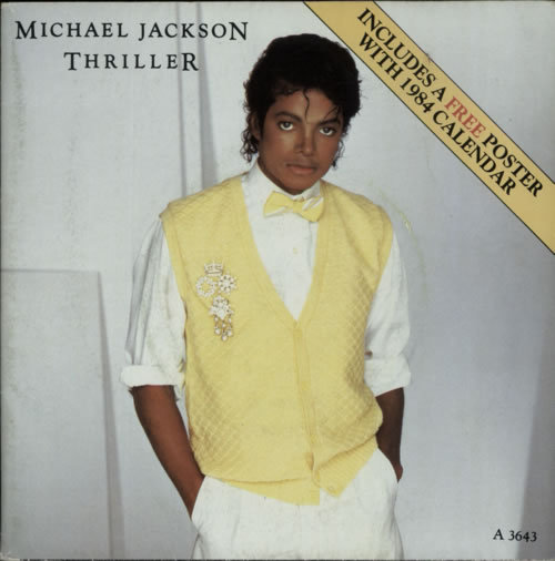 THRILLER 45T  CALENDAR  UK MICHAEL JACKSON-CD-DISQUES-RECORDS-BOUTIQUE VINYLES-MUSICSHOP