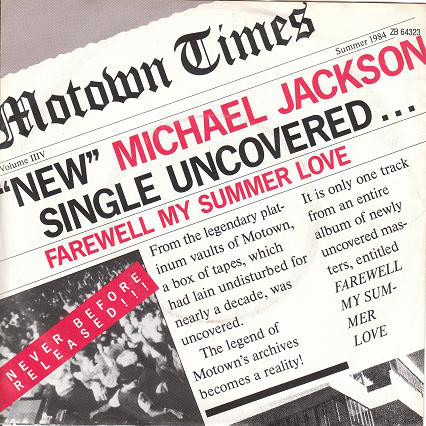 FAREWELL 45T BENELUX MICHAEL JACKSON-CD-DISQUES-RECORDS-BOUTIQUE VINYLES-MUSICSHOP